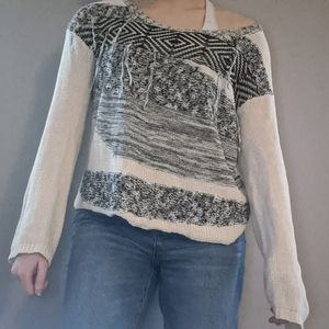 Boho Black and Off-White Sweater from Nordstrom